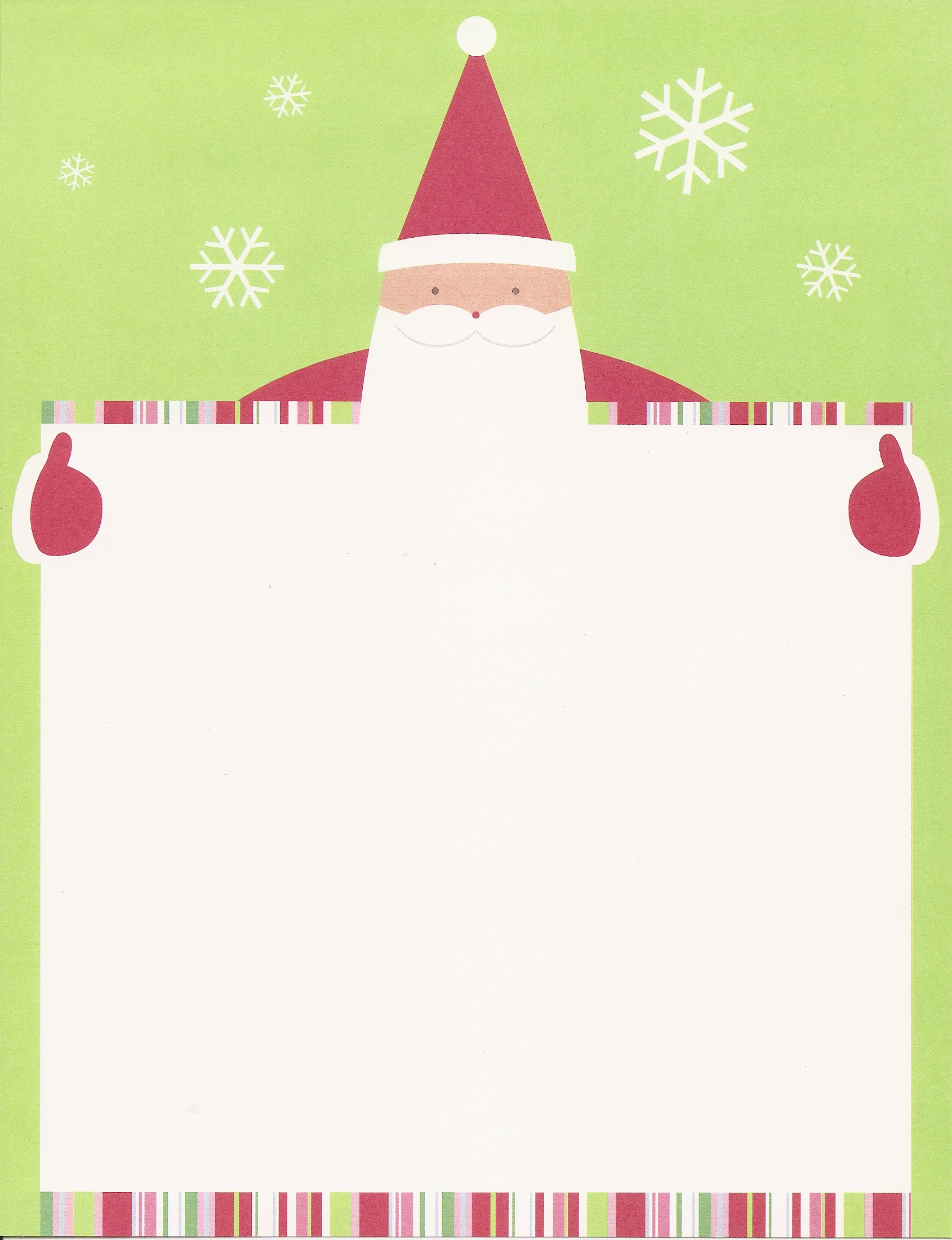 Blank Letters From Santa Site of santa letters home